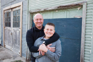 Ryan Holland and his son Zach